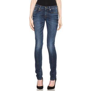 R13 skinny blue jeans